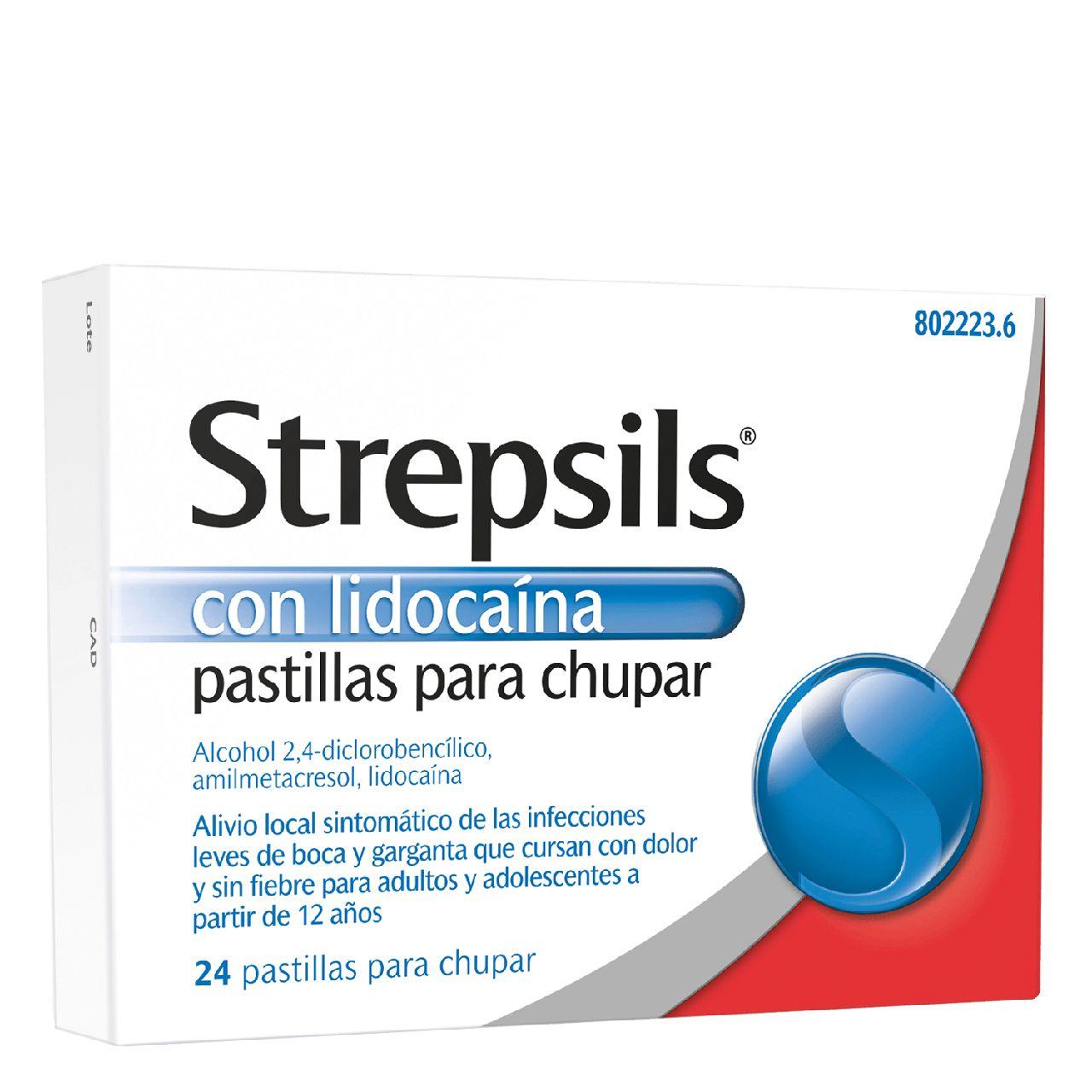 STREPSILS LIDOCAINA 24 PASTILLAS PARA CHUPAR