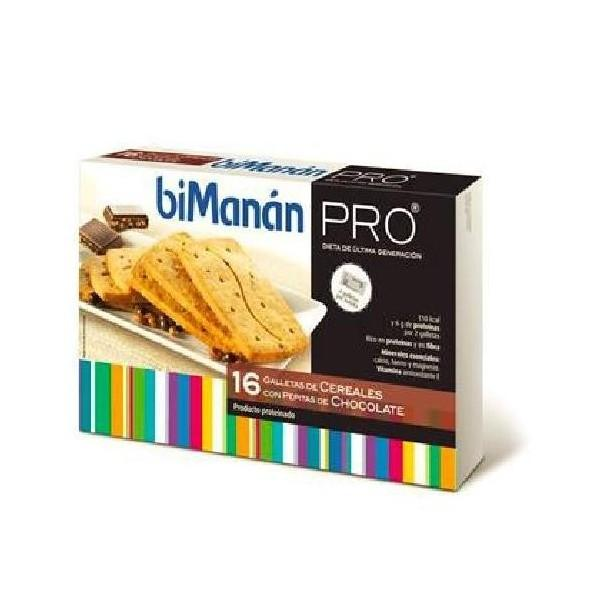 Bimanan Pro Galleta de cereales con pepitas de cereales 16 unidades