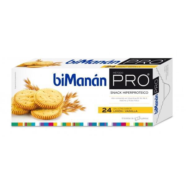 Bimanan Pro Galletas limón- vainilla 24 unidades