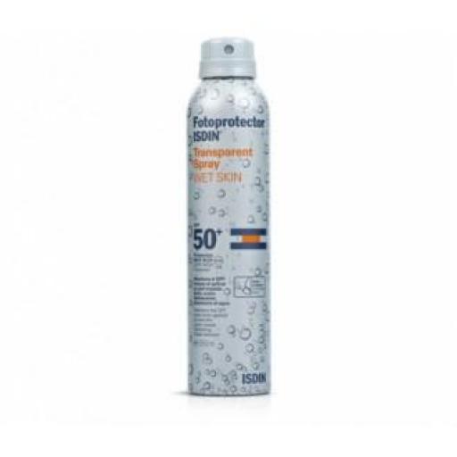 Isdin Loción Spray Solar Transparente Wet Skin SPF 50 - 200 mL