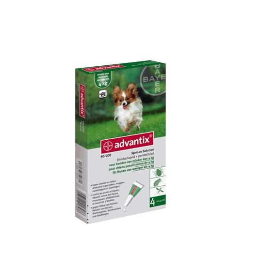 ADVANTIX Solución Spot para perros de 1,5 a 4 Kg - 4 unidades de 0,4 mL