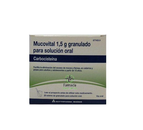 MUCOVITAL 2.7 G 20 SOBRES GRANULADOS