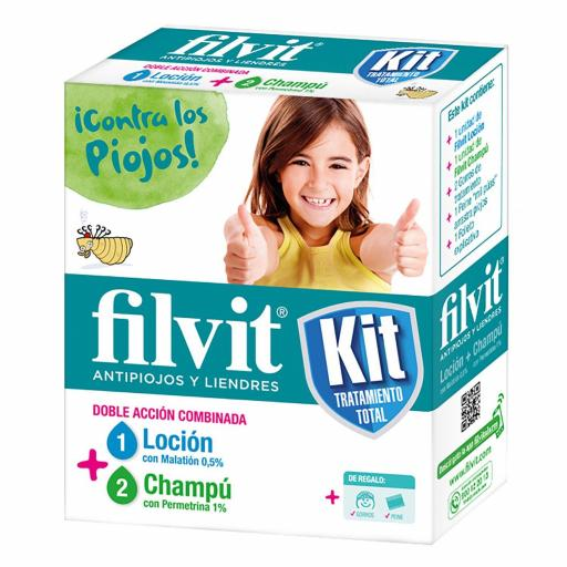 Filvit Kit Tratamiento Total Antipiojos y Liendres