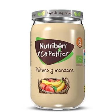 Ecopotito Nutribén Plátano y Manzana 235gr