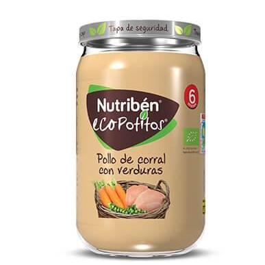 Ecopotito Nutribén Pollo de Corral con Verduras 235gr