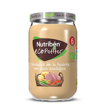 Ecopotito Nutribén Verduras de la Huerta con Pavo ecológico 235gr