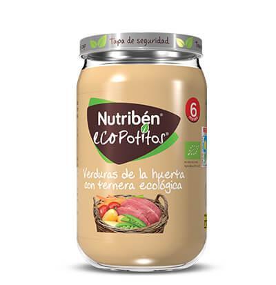 Ecopotito Nutribén Verduras de la Huerta con Ternera ecológica 235gr