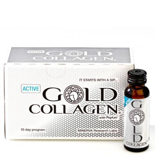 Minerva Active Gold Collagen (Pack de 10 botellas de 50 mL)