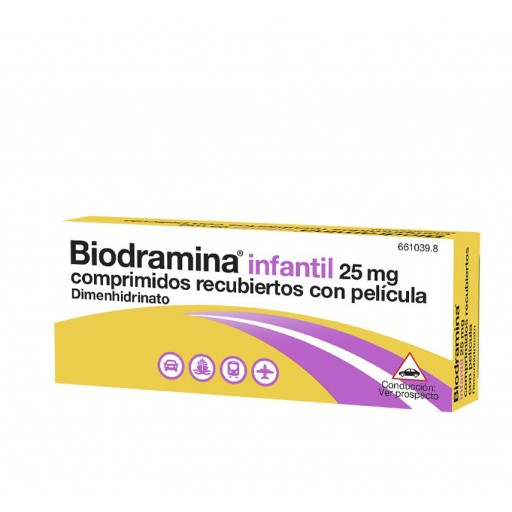 BIODRAMINA INFANTIL 25 MG 12 COMPRIMIDOS [0]