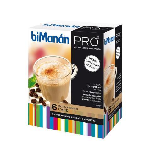 Bimanan Pro Batido sabor café 6 sobres