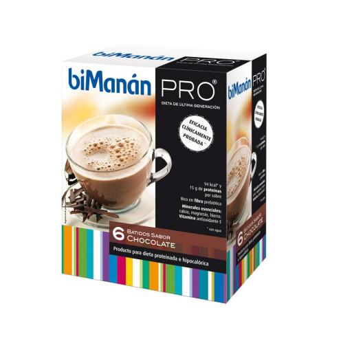 Bimanan Pro Batido de chocolate 6 sobres