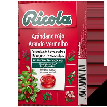 Ricola caramelos Arándano Rojo con Hierbas Suízas 50gr