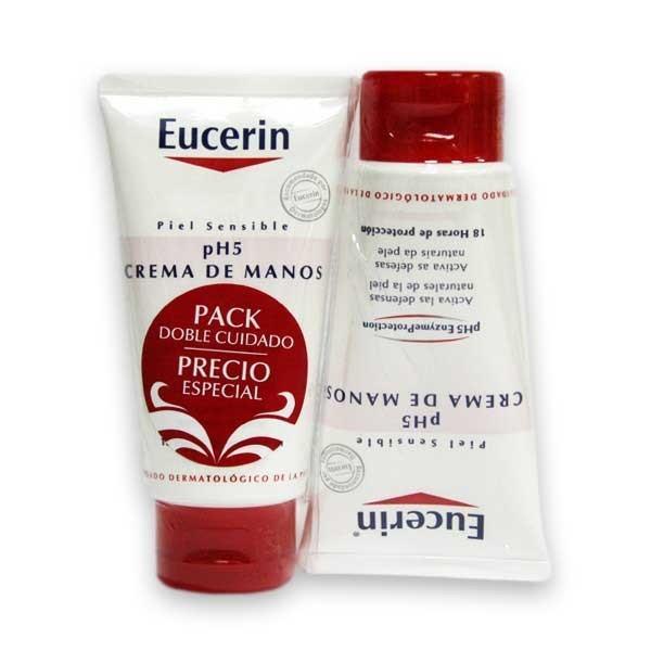 Eucerin pH5 Crema de manos piel sensible DUPLO