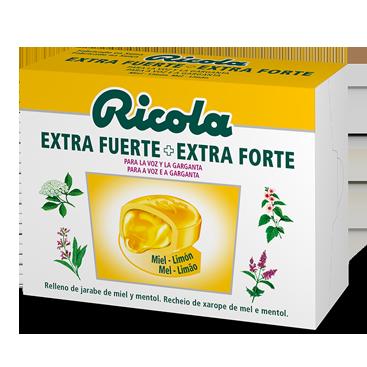 Ricola Extra Fuerte caramelos Sabor Miel y Limón 51gr