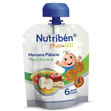 Fruta & GO! Nutribén Manzana y Plátano 90gr
