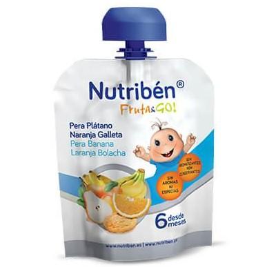 Fruta & GO! Nutribén Pera, Plátano, Naranja y Galleta 90gr