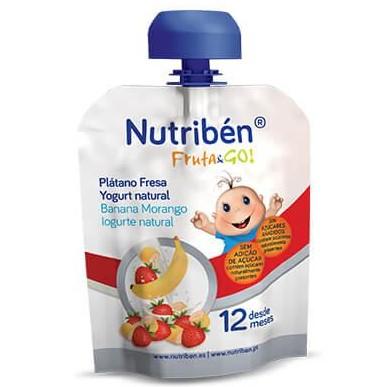 Fruta & GO! Nutribén Plátano, fresa y yogurt natural