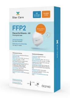CAJA 10 MASCARILLAS FFP2 Star Care Certificado CE
