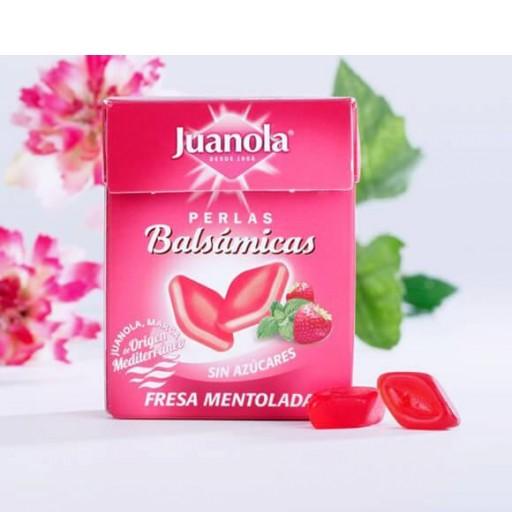 JUANOLA PERLAS BALSÁMICOS SABOR FRESA MENTOLADA