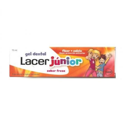 Lacer Gel Dentífrico Junior Fresa 75 mL