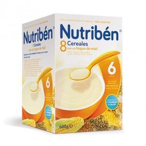 Nutriben 8 Cereales con un toque de miel 600 gramos