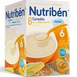 Nutriben 8 Cereales con un toque de miel y calcio 600 gramos