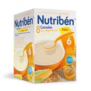 Nutriben 8 Cereales con un toque de miel y fibra 600 gramos