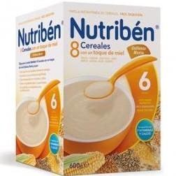 Nutriben 8 Cereales con un toque de miel galletas María 600 gramos