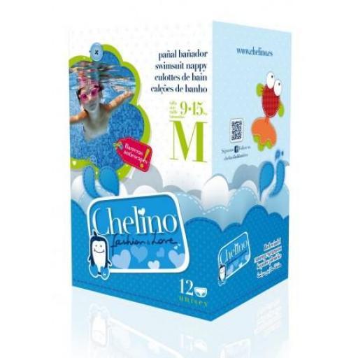 Chelino Fashion&Love Pañal Bañador Talla M (9-15 Kg) 12 unidades [0]