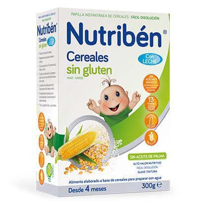 Cereales Nutribén Sin Gluten con Leche Adaptada 300gr