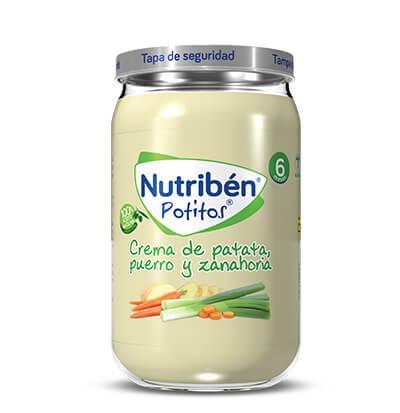 Potito Nutribén Patata Puerro y Zanahoria  235gr