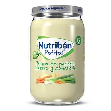 Potito Nutribén Patata Puerro y Zanahoria  235gr [0]