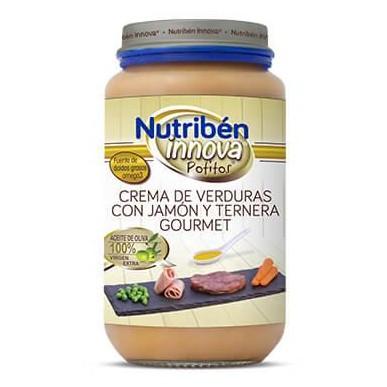 Potito Nutribén Innova Crema de Verduras con Jamón y Ternera Gourmet 235gr