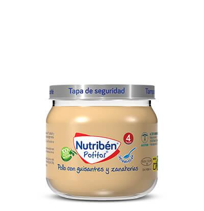 Potito Nutribén Introducción al Pollo con guisantes y zanahorias 120gr