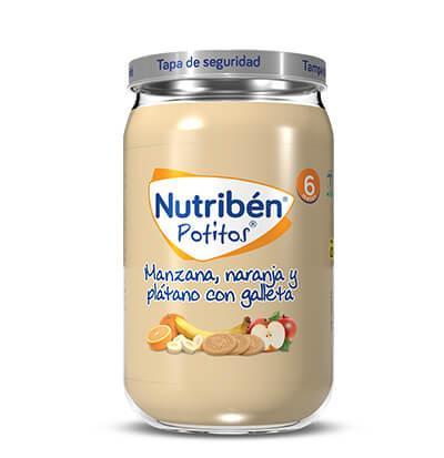 Potito Nutribén Manzana, Naranja y Plátano con Galleta  235gr