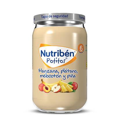 Potito Nutribén Manzana, Plátano, Melocotón y Piña  235gr