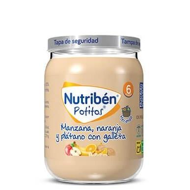 Potito Nutribén Manzana, Naranja y Plátano con Galleta 190gr
