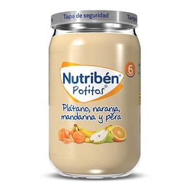 Potito Nutribén Plátano, Naranja, Mandarina y Pera  235gr