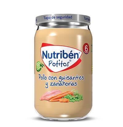 Potito Nutribén Pollo con Guisantes y Zanahorias  235gr