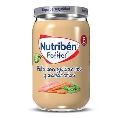 Potito Nutribén Pollo con Guisantes y Zanahorias  235gr [0]