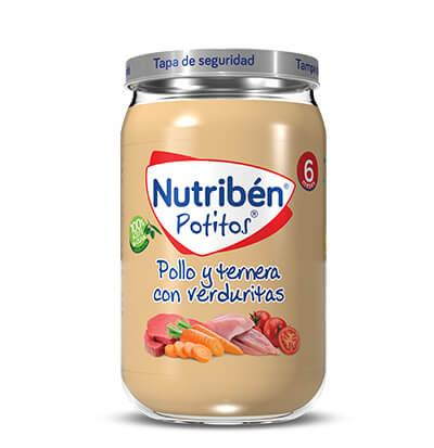 Potito Nutribén Pollo y Ternera con Verduritas 235gr