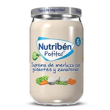 Potito Nutribén Suprema de Merluza con Guisantes y Zanahorias 235gr [0]