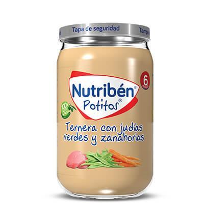 Potito Nutribén Ternera con Judías Verdes y Zanahorias 235gr
