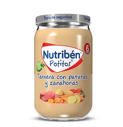 Potitos Nutribén Ternera con Patatas y Zanahorias 235gr