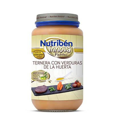 Potito Nutribén Innova Ternera con Verduras de la Huerta 235gr