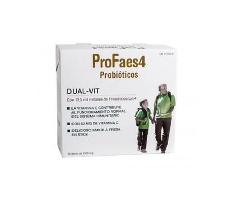 ProFaes4® Probióticos Dual Vit 30 sticks sabor fresa