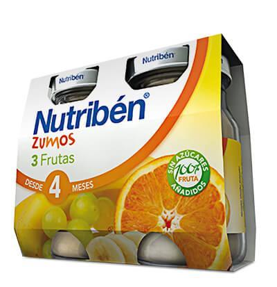 Zumos Nutribén 3 frutas 2 x 130gr