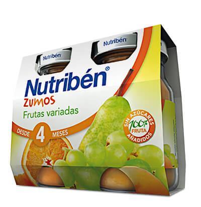 Zumo Nutribén de Frutas variadas 2 x 130gr