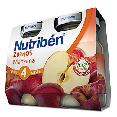 Zumos Nutribén Manzana 2 x 130gr