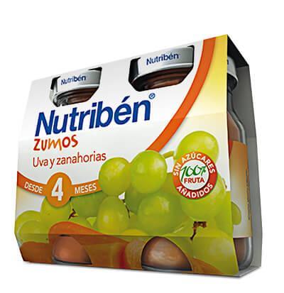 Zumo Nutribén Uva y Zanahorias 2 x 130gr